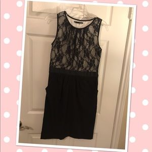 Maurice's Black & Lace Dress with Pockets